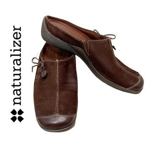 "Naturalizer ""Detail"" Brown Suede Casual Shoe- 7.5"